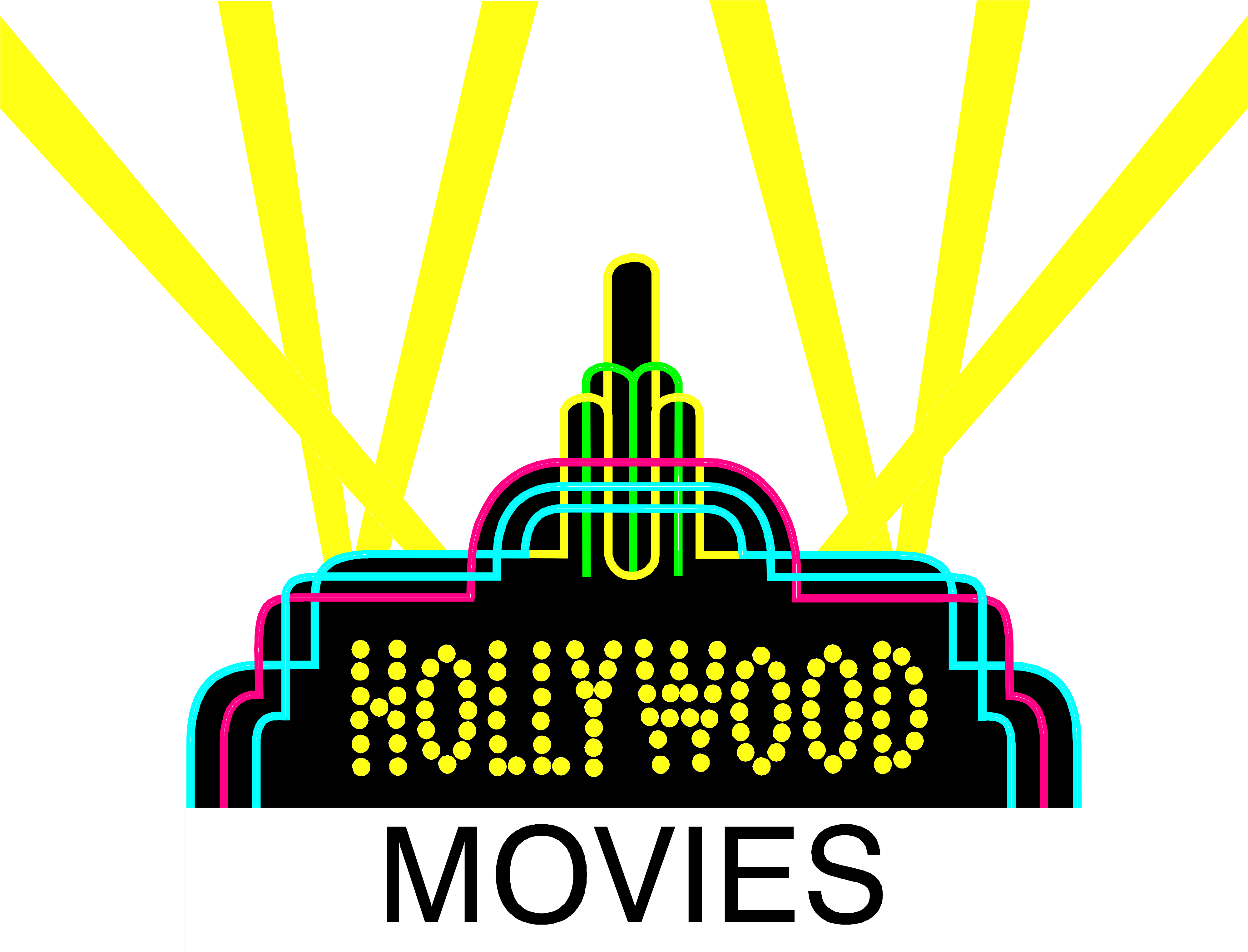 Trendnet. Hollywood clipart searchlights