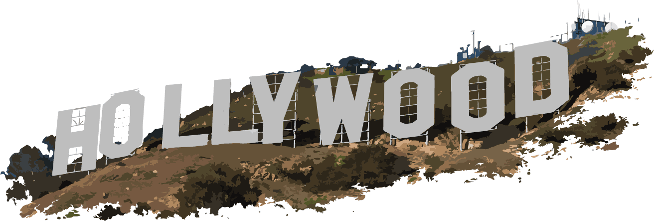 Hollywood clipart text. Letters transparent png stickpng