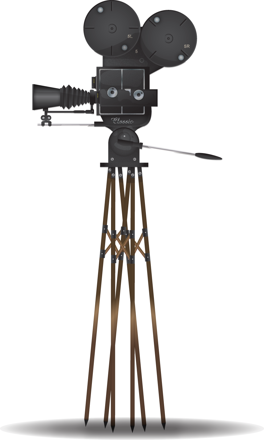 Hollywood clipart vintage video camera. Movie vectors pinterest and