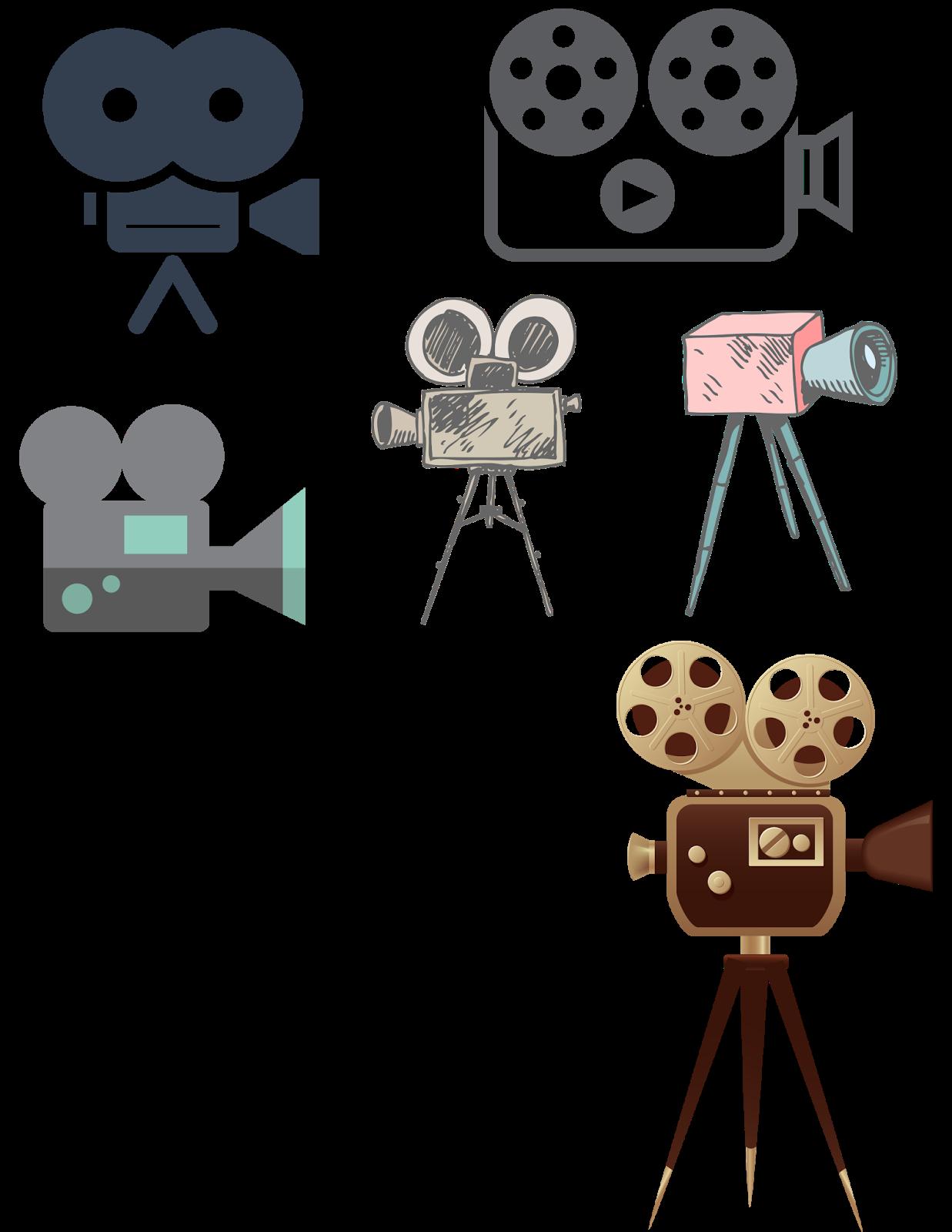 Hollywood clipart vintage video camera. Cosas en png proyectores