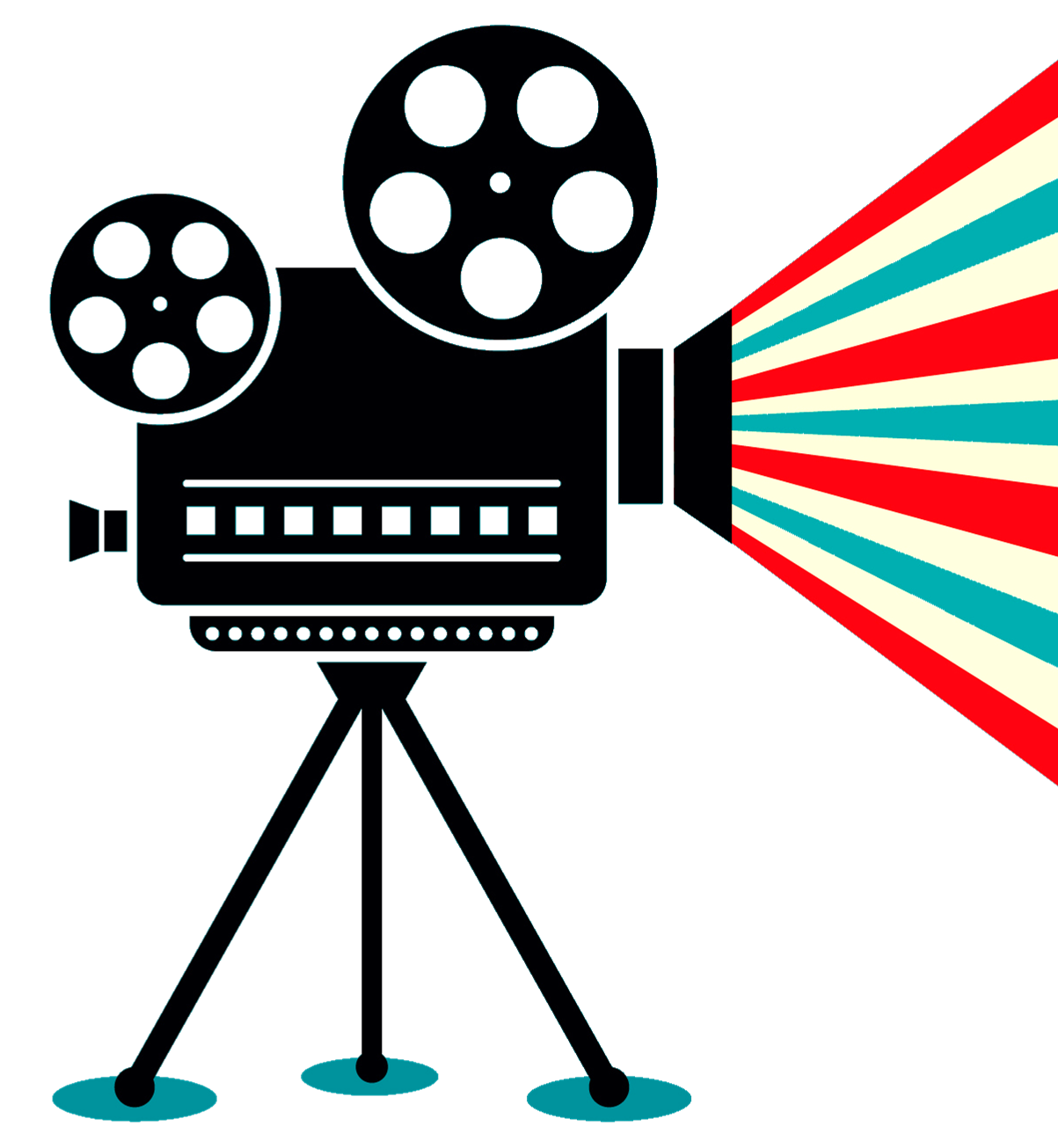 collection of old. Hollywood clipart vintage video camera