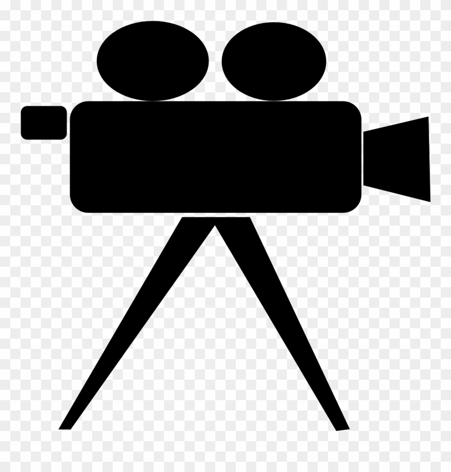 Cliparts black and white. Hollywood clipart vintage video camera