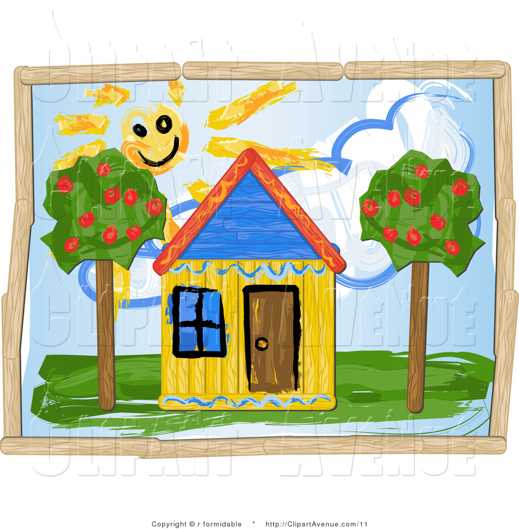 Avenue of a childrens. Home clipart children's