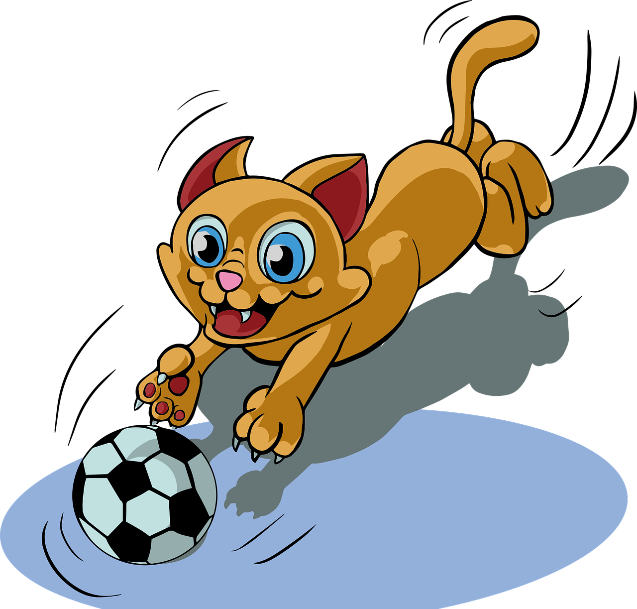 Cat ball play funny. Kitty clipart middle