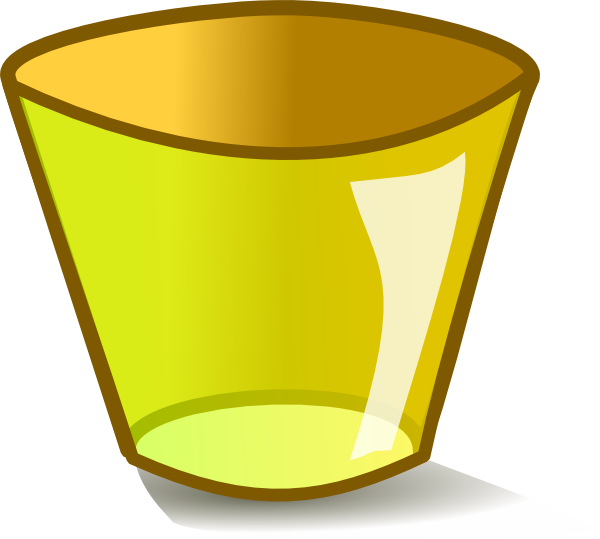 Home clipart garbage. Empty yellow trash can