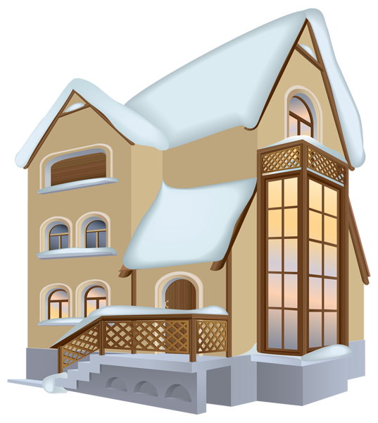 Home clipart hall. Winter house png image