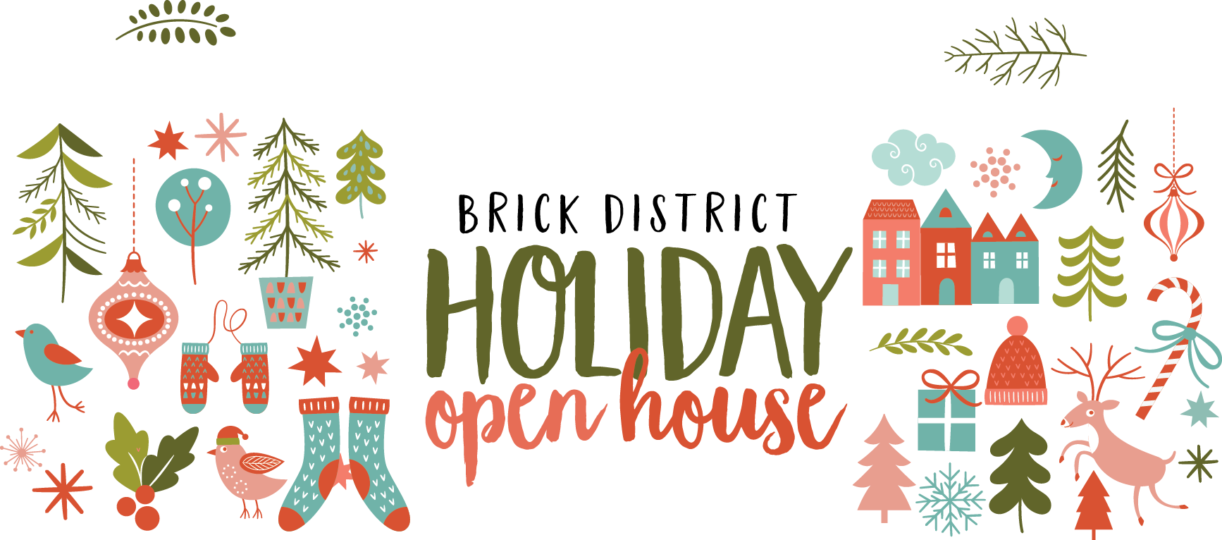 Open house . Home clipart holiday home