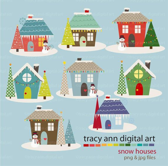 Cute little houses inspiration. Home clipart holiday home