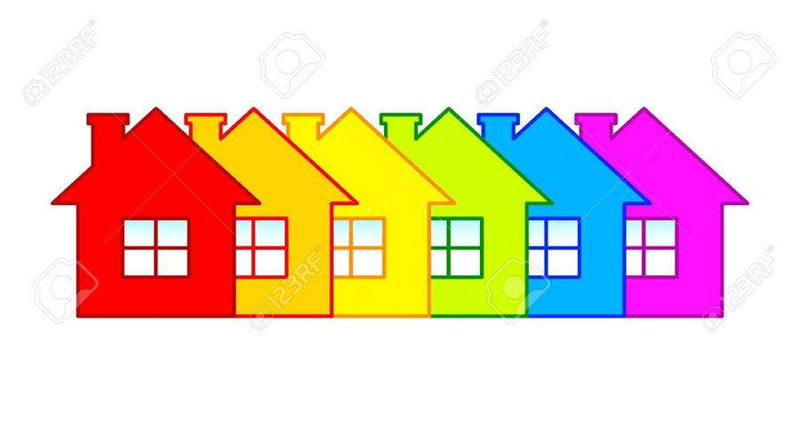 Download clip art of. Houses clipart row
