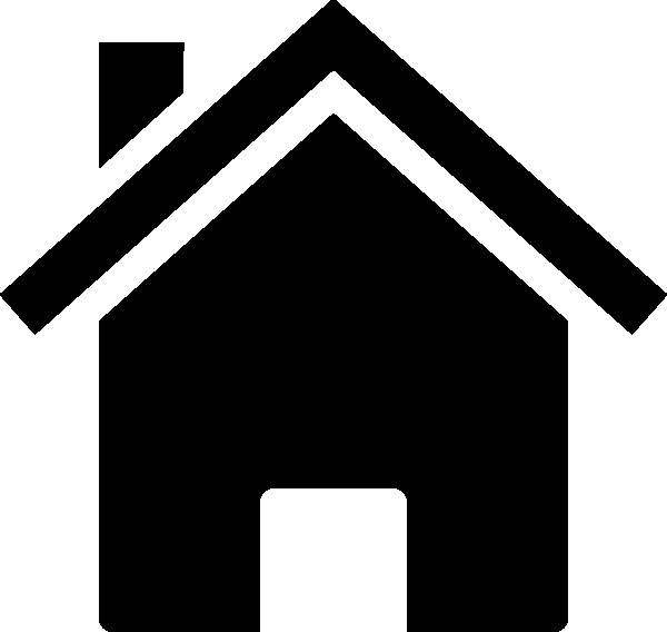 Simple black clip art. House clipart small