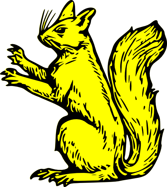 Yellow pinterest and clip. Home clipart squirrel