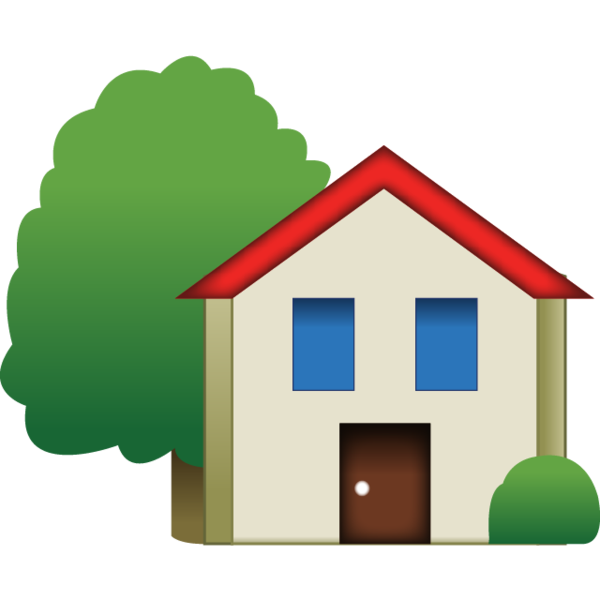 Download emoji with tree. Up clipart house