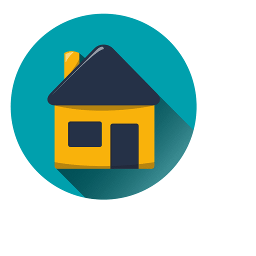 Home icon vector png. House round with drop