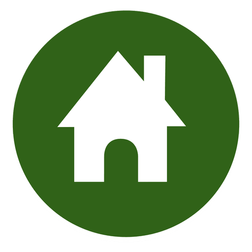 Round transparent svg. Home icon vector png