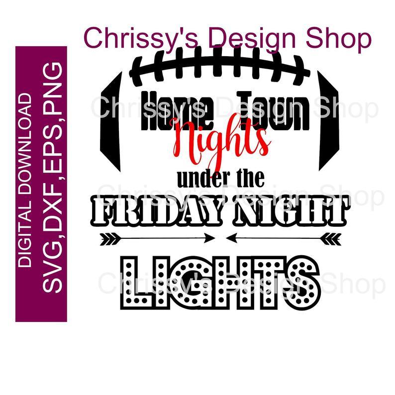 Friday night lights svg. Homecoming clipart love football