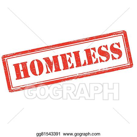 Homeless clipart. Vector art drawing gg