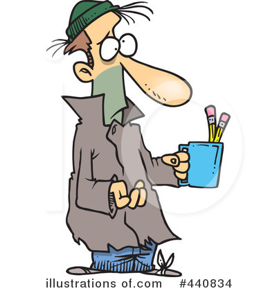 Homeless clipart. Illustration by toonaday royaltyfree