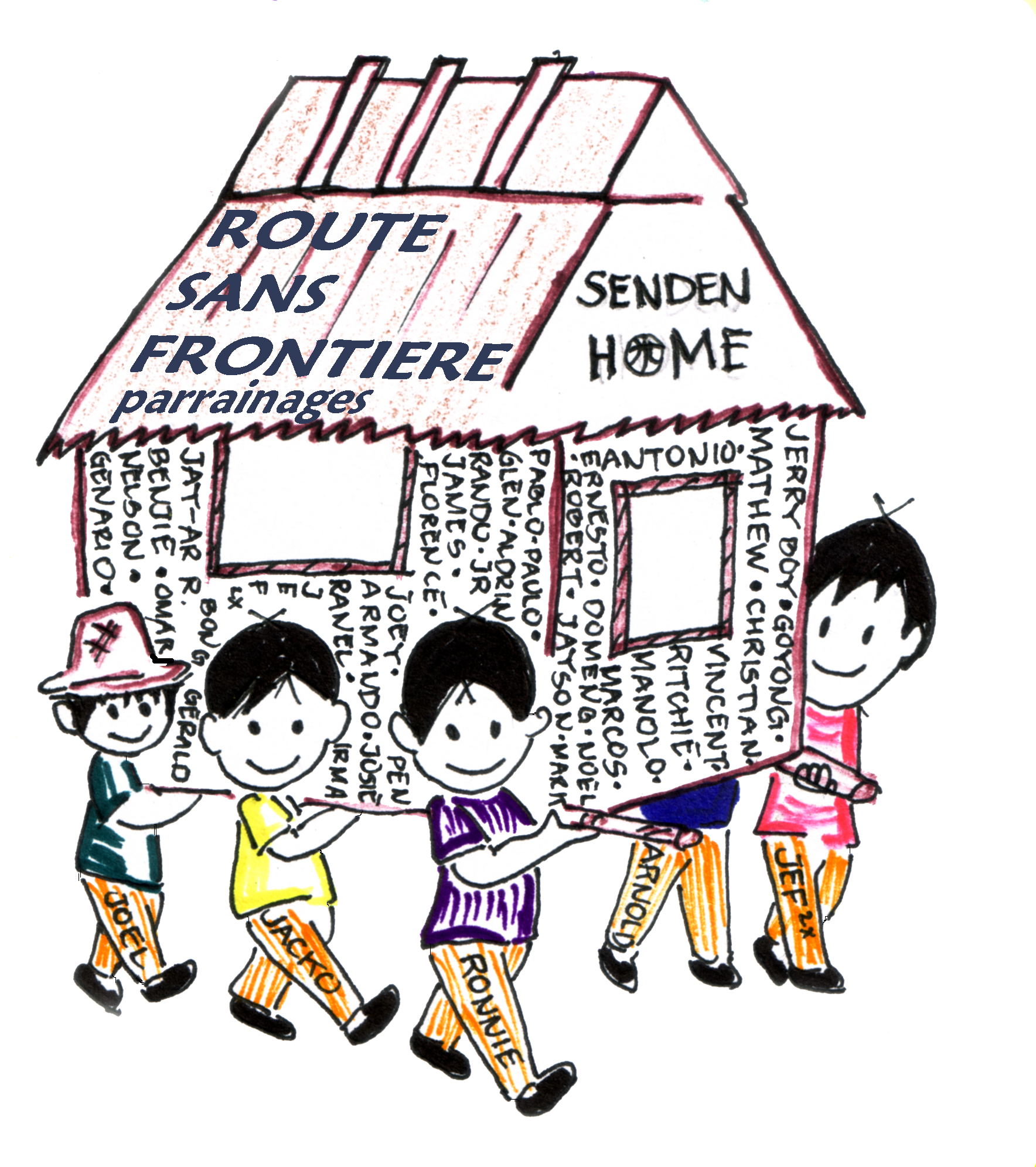 Senden home logotransp. Language clipart independent child