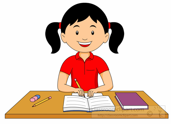 collection of children. Homework clipart