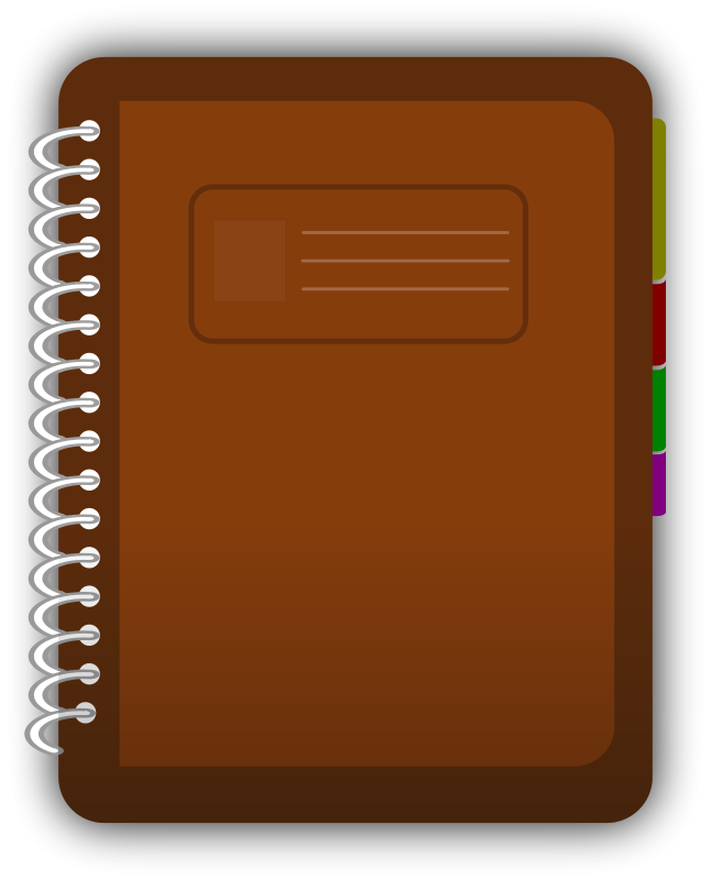 Report clipart journal. Notebook pencil and in