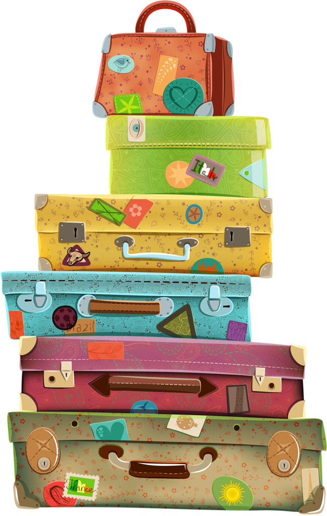 luggage clipart open suitcase #125589331