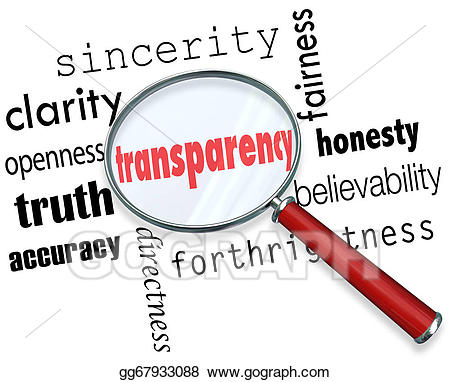 Pictures transparency word magnifying. Honesty clipart believable