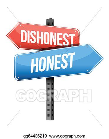 Honesty clipart dishonesty. Vector dishonest honest road