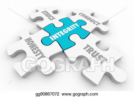 Drawing integrity principles trust. Honesty clipart ethical