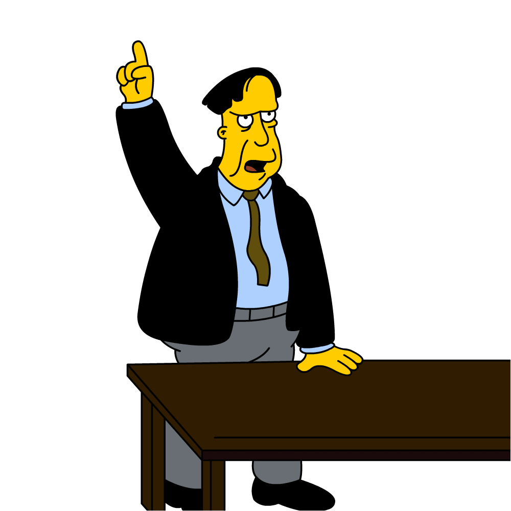 Lawyer clipart lawyer cartoon. The district attorney simpsons