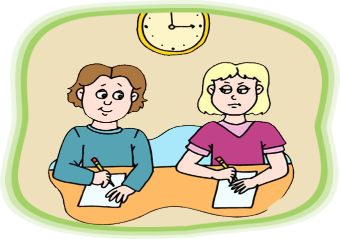Moral stories for kids. Honesty clipart copying