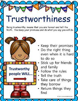 Pin on preschool character. Honesty clipart trustworthy person