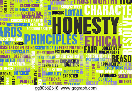 Honesty clipart trustworthiness. Stock illustration drawing gg