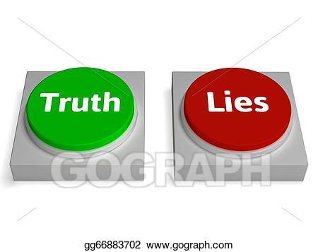 Honesty clipart untrue. Stock illustrations truth lies