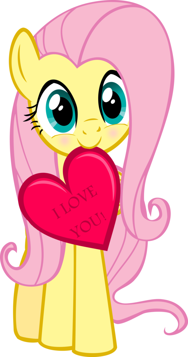 Fluttershy says Happy Hearts and Hooves Day