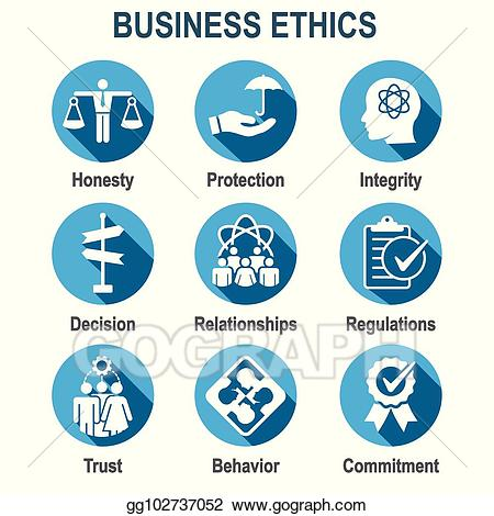 Honesty clipart ethical. Clip art vector business