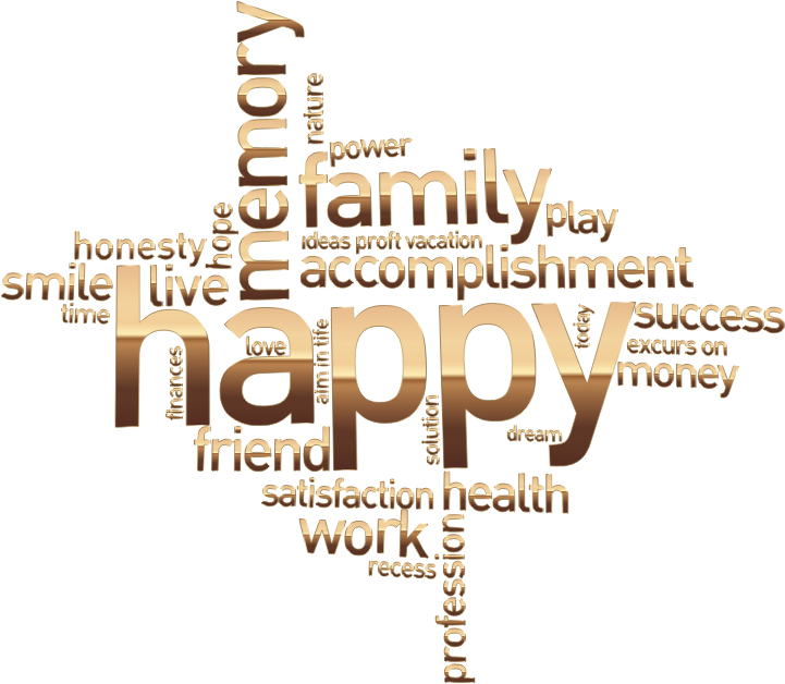 Happy family word cloud. Words clipart dream