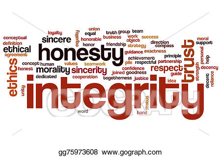 Honesty clipart honesty word. Stock illustration integrity cloud