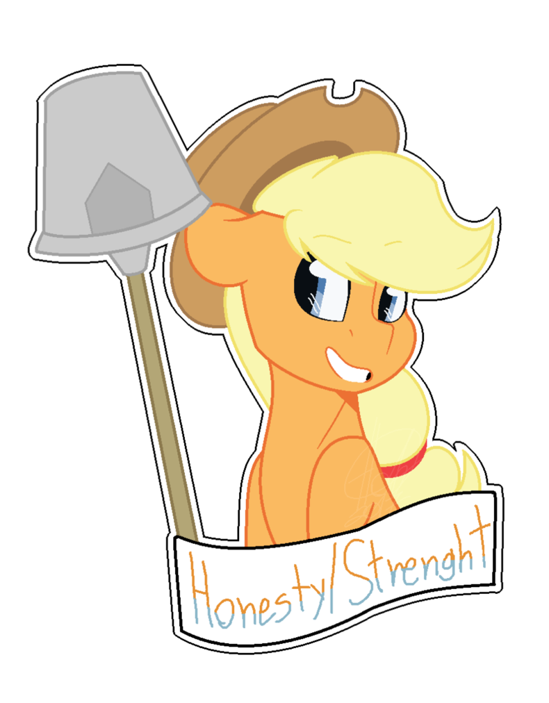 Strenght mlp fim by. Honesty clipart illustration