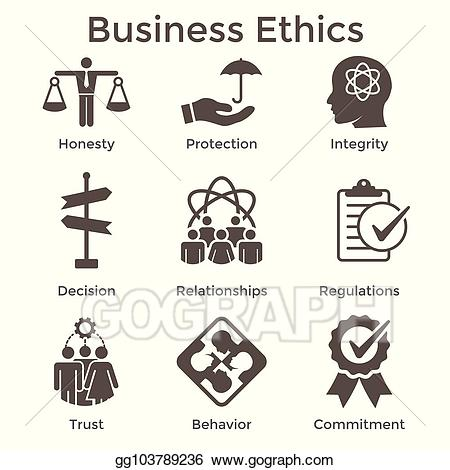 Honesty clipart integrity. Clip art vector business