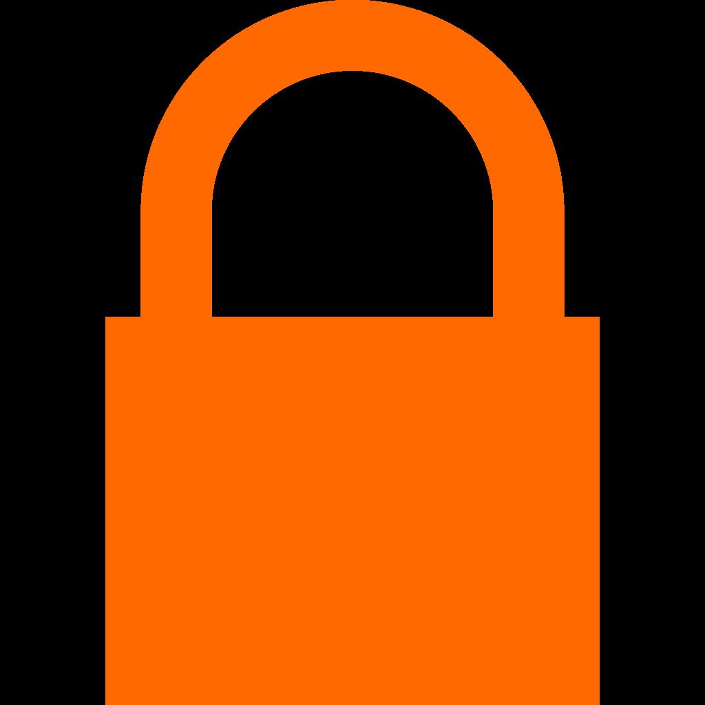 File orange svg wikipedia. Lock clipart lock icon