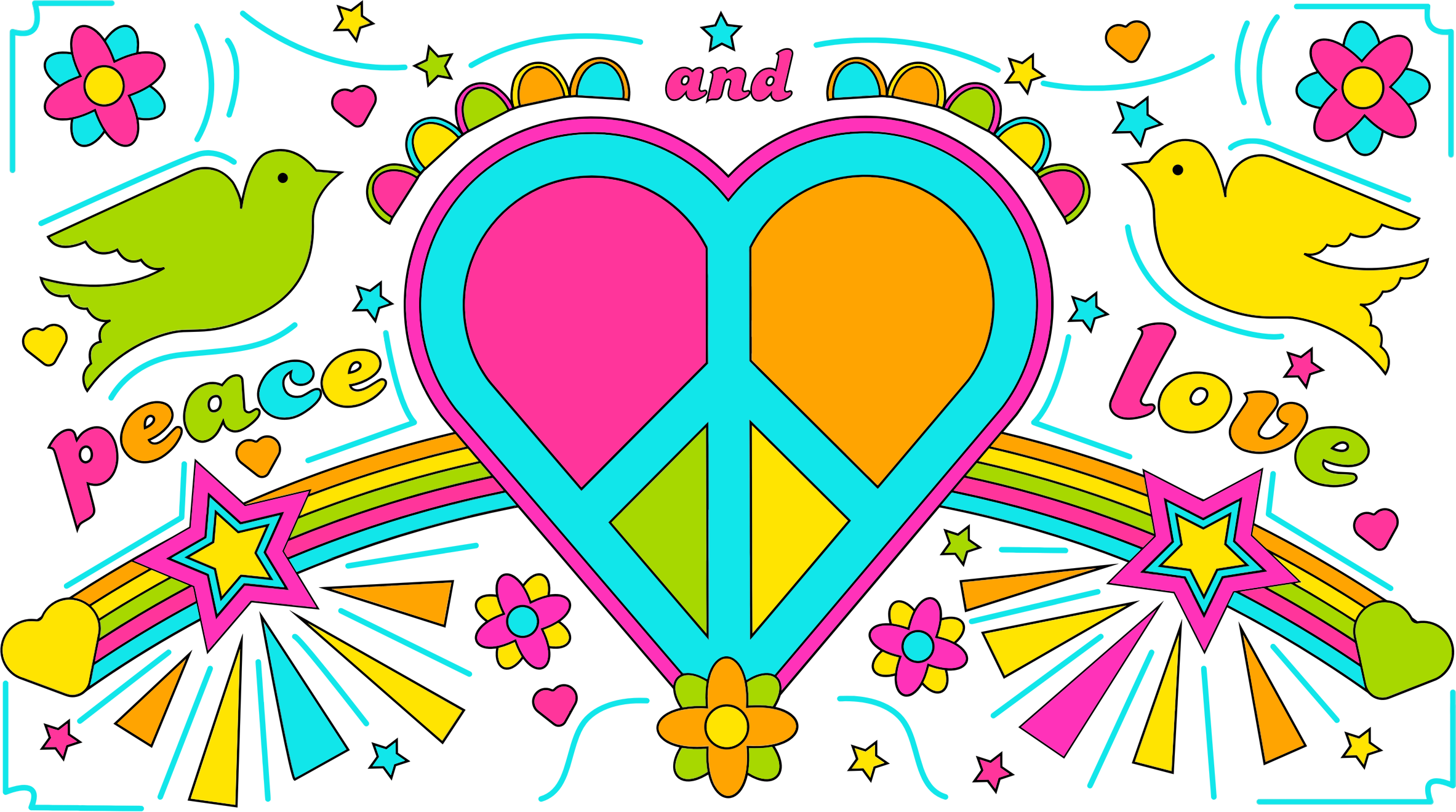 Honesty clipart peace. And love by david