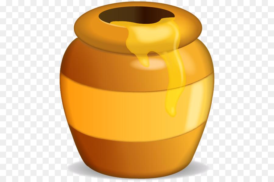 Honey clipart. Honeypot sticker emoji clip