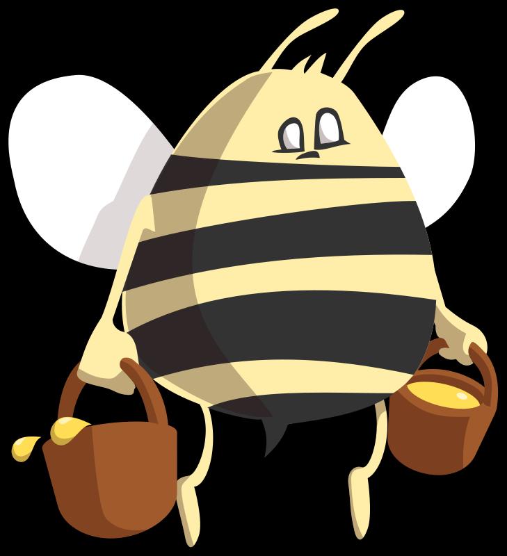 Bee free stock photo. Honey clipart animal home