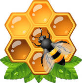 Comb station . Honey clipart combs