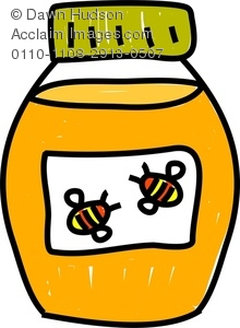 A whimsical drawing of. Honey clipart draw