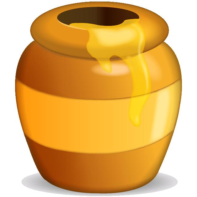 Download honey pot icon. Peach clipart emoji