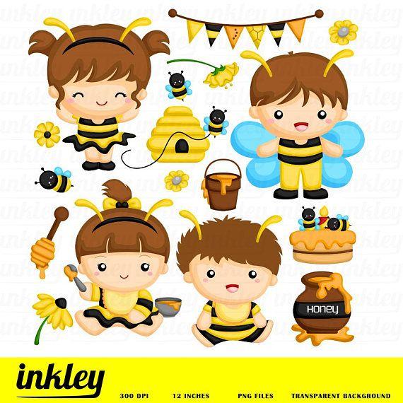 Baby bee clip art. Honey clipart happy birthday