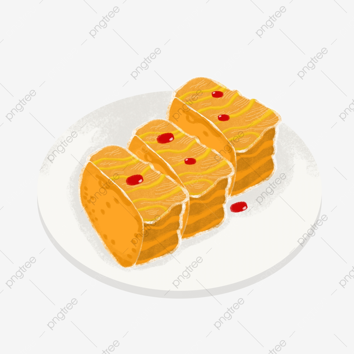 Fresh food simple cartoon. Honey clipart honey cake
