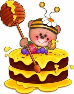 best bee abejas. Honey clipart honey cake