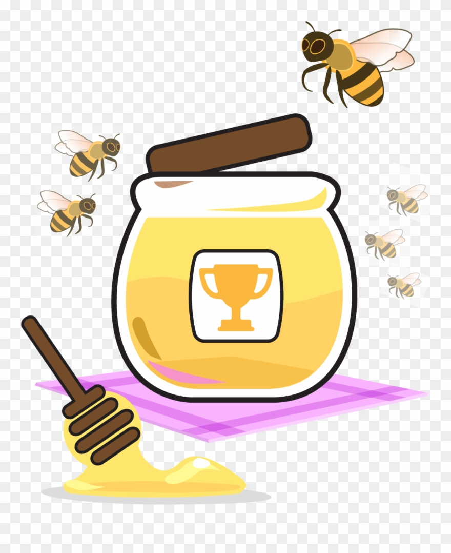 Honey clipart honey jar. Bees and bee pinclipart
